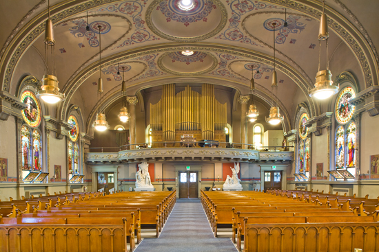Interior of St. Procop Church Cleveland OH